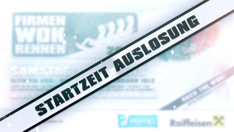 Firmen Wok Rennen 2019 - Startzeiten