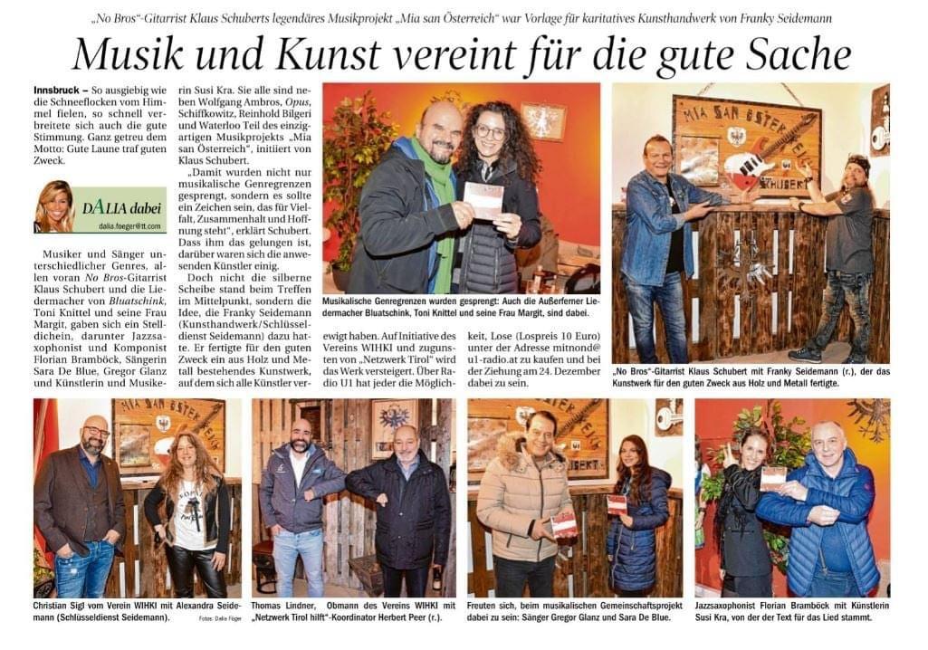 """""""Mia san Österreich"""" Kunstwerk - Verlosung zu Weihnachten"""